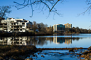 "Columbia, Maryland - December 13, 2017: The Columbia Lakefront area and Lake Kittamaqundi, along with the Mall in Columbia across the street, are the business and cultural centers of Columbia, Md.<br /> <br /> Residents of Columbia, Md., explain their perspective on the new tax proposals.<br /> <br /> Columbia, Md., is a planned community created in the 1960 with the idea of ""the janitor living alongside the chief executive officer."" Modern day Columbia is relatively affluent, but it's population spans the socioeconomic spectrum.<br /> <br /> <br /> CREDIT: Matt Roth for The New York Times<br /> Assignment ID: 30214394A"