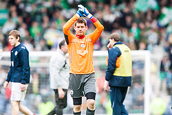 Falkirk's keeper Michael McGovern at the end..Hibernian 4 v 3 Falkirk, William Hill Scottish Cup Semi Final, Hampden Park...
