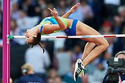 Great Britain, London - 2017 August 10: Marusa Cernjul from Slovenia competes in women's high jump qualification during IAAF World Championships London 2017 Day 7 at London Stadium on August 10, 2017 in London, Great Britain.<br /> <br /> Mandatory credit:<br /> Photo by &copy; Adam Nurkiewicz<br /> <br /> Adam Nurkiewicz declares that he has no rights to the image of people at the photographs of his authorship.<br /> <br /> Picture also available in RAW (NEF) or TIFF format on special request.<br /> <br /> Any editorial, commercial or promotional use requires written permission from the author of image.