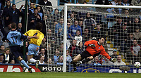 Picture: Henry Browne.<br /> Date: 09/05/2004.<br /> Coventry v Crystal Palace Nationwide First Division.<br /> <br /> Michael Doyle scores Cov's second goal past Palace keeper Nico Vaesen.