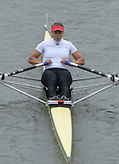 """Seville. SPAIN, 17.02.2007, RSA W1X  Rika GEYSER, clears the """"Puente de la Barqueta"""" [bridge] during Saturdays heats, of the FISA Team Cup, held on the River Guadalquiver course. [Photo Peter Spurrier/Intersport Images]    [Mandatory Credit, Peter Spurier/ Intersport Images]. , Rowing Course: Rio Guadalquiver Rowing Course, Seville, SPAIN,"""