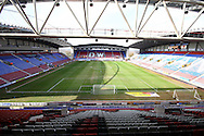 a General view inside the DW Stadium prior to kick off. Skybet football league championship match , Wigan Athletic v Leeds Utd at the DW Stadium in Wigan, Lancs on Saturday 7th March 2014.<br /> pic by Chris Stading, Andrew Orchard sports photography.