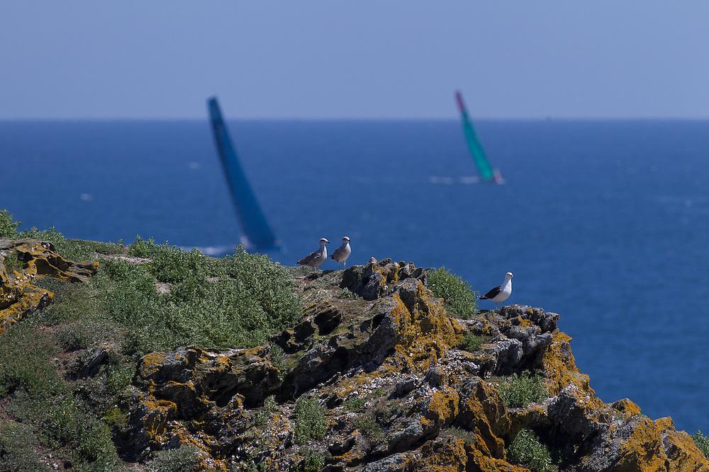 FRANCE, Belle Ile. 1st July 2012. Volvo Ocean Race, Leg 9 Lorient-Galway.