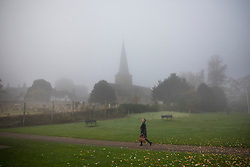 © Licensed to London News Pictures. 31/10/2016. Godalming, UK. Early morning fog in Godalming.  Photo credit: Peter Macdiarmid/LNP