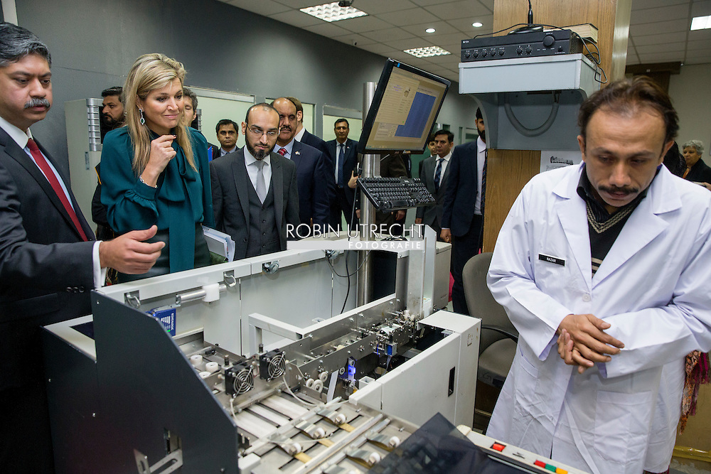 Queen Maxima of the Netherlands  Meeting with the President of the National Database and Registration Authority (NADRA) Mr. Usmany. Mobin, Chairman NADRA  in islamabad on 11 february 2016 .. Queen Maxima is in Pakistan as United Nations Secretary-General&rsquo;s Special Advocate for Inclusive Finance for Development to promote and support financial services in development countries. copyright robin utrecht<br /> ISLAMABAD - Koningin Maxima heeft in Islamabad een ontmoeting met de voorzitter van de National Database and Registration Authority (NADRA) Usmany Y. Mobin. Maxima brengt een driedaags bezoek aan het Aziatische land als speciaal pleitbezorger van de VN op het gebied van inclusieve financiering voor ontwikkeling.