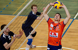 Dejan Vincic of ACH during volleyball match between ACH Volley Bled and UKO Kropa at final of Slovenian National Championships 2011, on April 27, 2011 in Arena SGTS Radovljica, Slovenia. ACH Volley defeated Kropa 3-0 and became Slovenian National Champion 2011. (Photo By Vid Ponikvar / Sportida.com)