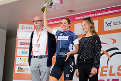 Roxane Knetemann (Rabo Liv) is awarded the most combative rider jersey for her efforts in the break on the 123 km Stage 3 of the Boels Ladies Tour 2016 on 1st September 2016 in Sittard Geleen, Netherlands. (Photo by Sean Robinson/Velofocus).