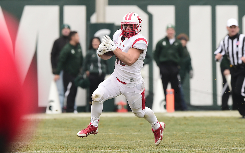 The Rutgers Scarlet Knights take on the Michigan State Spartans at Spartan Stadium on Saturday, November 22, 2014.<br /> Ben Solomon/Rutgers Athletics