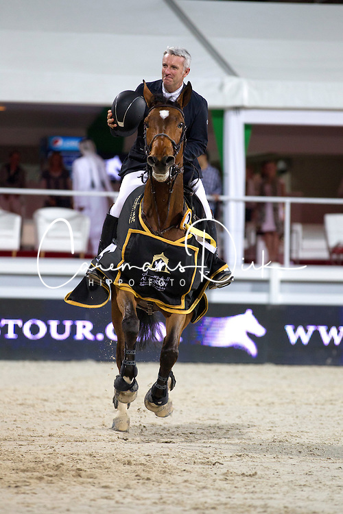 Bost Roger Yves (FRA) - Nikyta D'Elle<br /> Final Global Champions Tour - Abu Dhabi 2012<br /> &copy; Hippo Foto - Cindy Voss