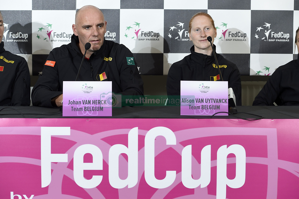 February 8, 2019 - Liege, France - Johan VAN HERCK captain of Belgium, Alison VAN UYTVANCK (Credit Image: © Panoramic via ZUMA Press)