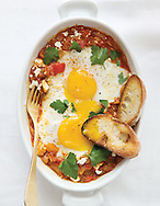 Poached egg piperade brunch story for the March issue of Capital Style.(Will Shilling/Capital Style)