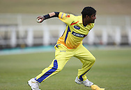 Muttiah Muralitharan during the CLT20 Practice match between the Dolphins and the Chennai Super Kings held at Kingsmead stadium in Durban on the 8th September during the build up to the Champions League T20 tournament being held in South Africa between the 10th and 26th September 2010..Photo by: Steve Haag/SPORTZPICS/CLT20