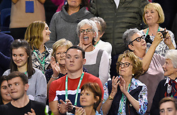 Judy Murray shouts her support during day two of the Davis Cup match at Emirates Arena, Glasgow.