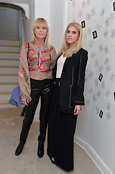 Left to right, DEBORAH LENG and her daughter TIGERLILY TAYLOR at the Man Repeller x Liudmila Pre Spring '17 Preview held at 19 Greek Street, Soho, London on 1st June 2016.