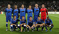 Photo: Paul Thomas.<br /> Lyon v Rangers. UEFA Champions League, Group E. 02/10/2007.<br /> <br /> Rangers team to Lyon.