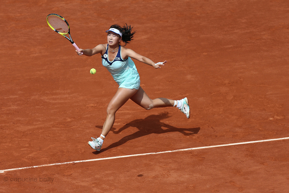 Roland Garros. Paris, France. June 2nd 2012.Chinese player Shuai PENG against Maria SHARAPOVA.