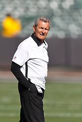 OAKLAND, CA - OCTOBER 21: Wide receivers coach Jerry Sullivan of the Jacksonville Jaguars on the field before the game against the Oakland Raiders at O.co Coliseum on October 21, 2012 in Oakland, California. The Oakland Raiders defeated the Jacksonville Jaguars 26-23 in overtime. Photo by Jason O. Watson/Getty Images) *** Local Caption *** Jerry Sullivan