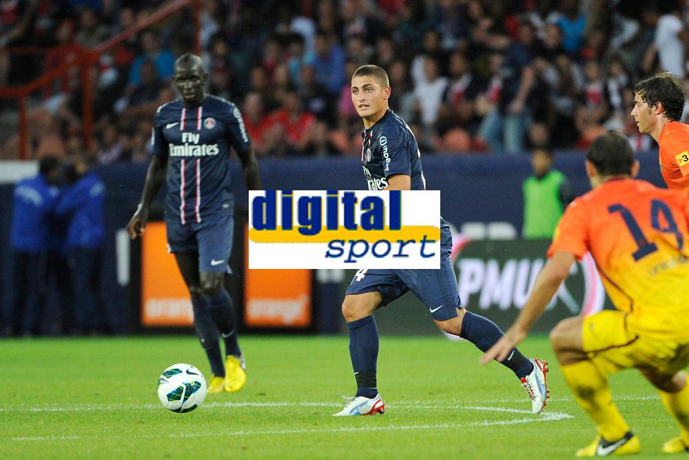 FOOTBALL - FRIENDLY GAMES 2012/2013 - TROPHEE DE PARIS - PARIS SAINT GERMAIN v FC BARCELONA - 04/08/2012 - PHOTO JEAN MARIE HERVIO / REGAMEDIA / DPPI - MARCO VERRATTI (PSG)
