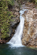 Upper Priest River Falls, also known as American Falls, Selkirk Mountains, Idaho.