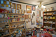 Antique shop display of antiques, Georgia