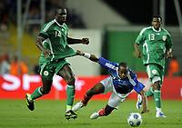 Fotball<br /> Frankrike v Nigeria<br /> Foto: DPPI/Digitalsport<br /> NORWAY ONLY<br /> <br /> FOOTBALL - FRIENDLY GAMES 2008/2009 - FRANCE v NIGERIA - 2/06/2009 <br /> <br /> SIDNEY GOVOU (FRA) / SEYI OLOFINJANA (NIG)