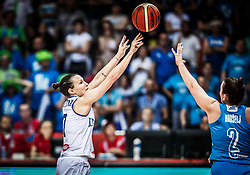 Giorgia Sottana of Italy vs Aleksandra Kroselj of Slovenia during basketball match between Women National teams of Italy and Slovenia in Group phase of Women's Eurobasket 2019, on June 30, 2019 in Sports Center Cair, Nis, Serbia. Photo by Vid Ponikvar / Sportida