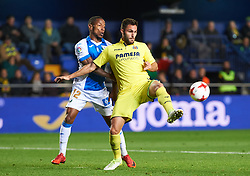 January 10, 2018 - Vila-Real, Castellon, Spain - Victor Ruiz of Villarreal CF and Claudio Beauvue of Club Deportivo Leganes during the Spanish Copa del Rey, Round of 16, match between Villarreal CF and Club Deportivo Leganes at Estadio de la Ceramica on jenuary 10, 2018 in Vila-real, Spain. (Credit Image: © Maria Jose Segovia/NurPhoto via ZUMA Press)