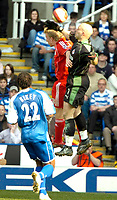 Photo: Ed Godden/Sportsbeat Images.<br />Reading v Liverpool. The Barclays Premiership. 07/04/2007. Reading keeper Marcus Hahnemann, handles the ball outside his area, resulting in a yellow card.