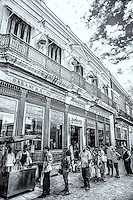 The popular Churro street vendor has a line up in Old Havana, Cuba.
