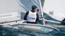 2012 Olympic Games London / Weymouth<br /> Racing day 1 Laser<br /> LaserGBRGoodison Paul