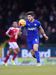 Chesterfield captain Sam Morsy in action during the Sky Bet League One match between Swindon Town and Chesterfield at The County Ground on January 17, 2015 in Swindon, England. - Photo mandatory by-line: Paul Knight/JMP - Mobile: 07966 386802 - 17/01/2015 - SPORT - Football - Swindon - The County Ground - Swindon Town v Chesterfield - Sky Bet League One
