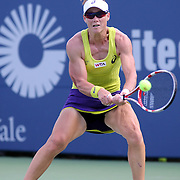 Sam Stosur, Australia, in action against Kurumi Nara, Japan, during the first round of the Connecticut Open at the Connecticut Tennis Center at Yale, New Haven, Connecticut, USA. 18th August 2014. Photo Tim Clayton
