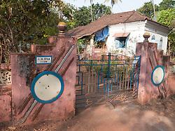 Gateway to old Portuguese house, Little Vagator Beach, Goa.
