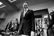 rome, jan 15th 2015, Mr Jyrki Katainen press conference, vice-president of European Commission, during his visit in Italy