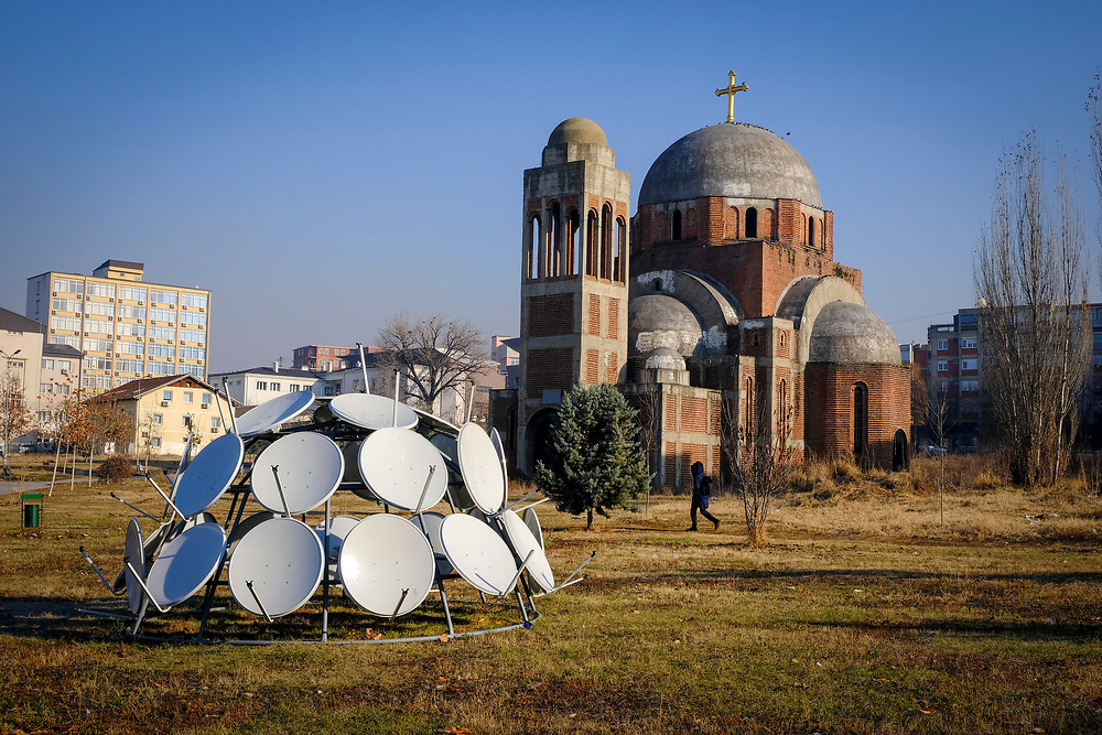 Christ the Saviour Serbian Orthodox Cathedral is an unfinished Serbian Orthodox Church on the campus of the University of Pristina, the construction was interrupted by the Kosovo war and it has never been completed. Pristina, Kosovo.  Photographed on the13th of December 2018, Pristina is the capital and largest city of Kosovo, it has a mainly Albanian population along with other smaller communities.  (photo by Andrew Aitchison / In pictures via Getty Images)