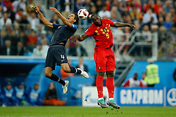 July 10, 2018 - SãO Petersburgo, Rússia - SÃO PETERSBURGO, MO - 10.07.2018: FRANÇA X BÉLGICA - Raphael Varane of France contests ball with Romelu Lukaku of Belgium during a match between France and Belgium valid for the semi final of the 2018 World Cup held at the Krestovsky Stadium in St Petersburg, Russia. (Credit Image: © Marcelo Machado De Melo/Fotoarena via ZUMA Press)