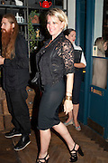 FIONA GOLFAR, Leaving dinner for Kate Phelan given by Alex Shulman and Mary Homer. Riding House Cafe. Great Titchfield st. London. 20 September 2011. <br /> <br />  , -DO NOT ARCHIVE-© Copyright Photograph by Dafydd Jones. 248 Clapham Rd. London SW9 0PZ. Tel 0207 820 0771. www.dafjones.com.