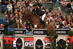 Tebbel Maurice, (GER), Chacco's Son<br /> Longines FEI World Cup presented by Sparkasse<br /> Sparkasen Cup-Grand Prix of Leipzig<br /> CSIO Leipzig 2016<br /> © Hippo Foto - Stefan Lafrentz