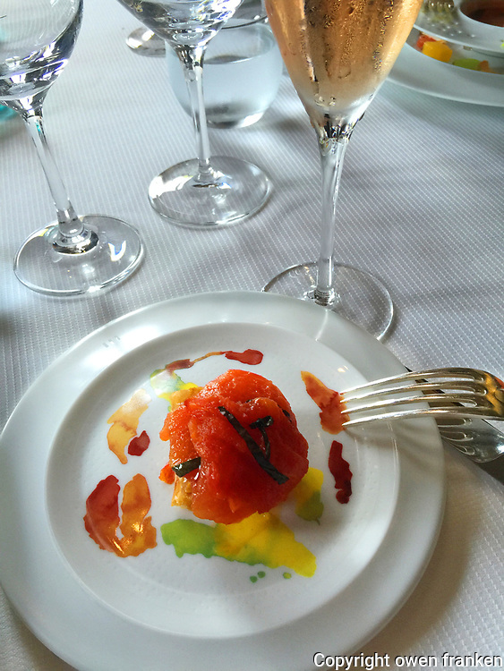 Restaurant Guy Savoy-tomoto entrée-Champagne