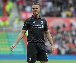 Liverpool's Jordan Henderson- Photo mandatory by-line: Nizaam Jones/JMP - Mobile: 07966 386802 - 24/05/2015 - SPORT - Football - Stoke - Britannia Stadium - Stoke City v Liverpool - Barclays Premier League