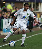 Stockport - Saturday October 31st 2009: Korey Smith of Norwich City in action against Stockport County during the Coca Cola League One match at Edgeley Park, Stockport. (Pic by Michael SedgwickFocus Images)