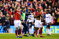 Ryan Yates of Nottingham Forest celebrate victory over Derby County - Mandatory by-line: Robbie Stephenson/JMP - 25/02/2019 - FOOTBALL - The City Ground - Nottingham, England - Nottingham Forest v Derby County - Sky Bet Championship