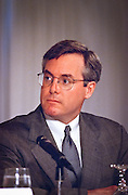 William Harris of Intuit attends a press conference by the Business Software Alliance June 16, 1999 in Washington, DC.