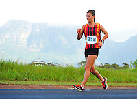 CAPE TOWN, SOUTH AFRICA - OCTOBER 10: Anel Oosthuizen of CGA in the women's 20km during the South African Race Walking Championship at Youngsfield Military Base on October 10, 2015 in Cape Town, South Africa. (Photo by Roger Sedres/ImageSA)