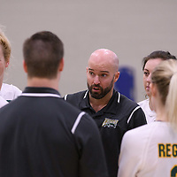 Interim Head Coach Shane Smith (1 season) of the Regina Cougars during Women's Volleyball home game on November 18 at Centre for Kinesiology, Health and Sport. Credit: /Arthur Images