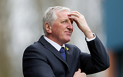 BURY, ENGLAND - Saturday, March 31, 2012: Tranmere Rovers' manager Ronnie Moore looks dejected during the Football League One match against Bury at Gigg Lane. (Pic by Vegard Grott/Propaganda)