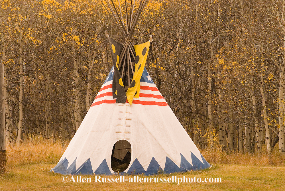 Tipi on the Blackfeet Indian Reservation in northern Montana