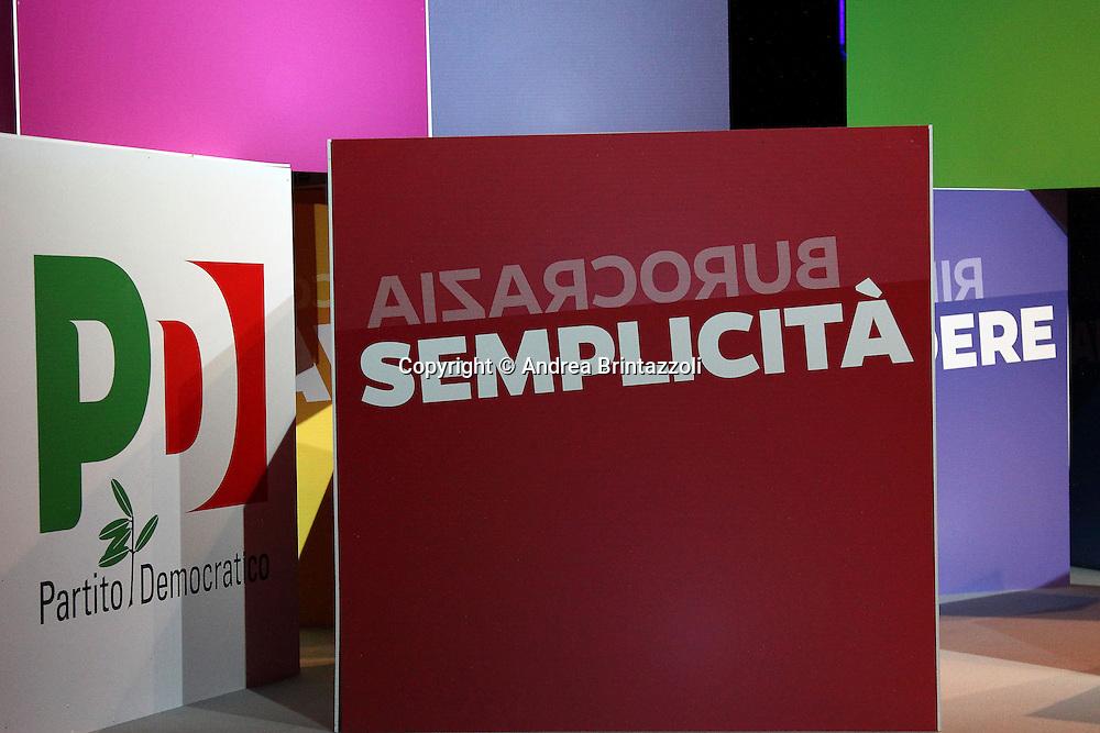Bologna 04 Dicembre 2013 Unipol Arena Matteo Renzi in campagna elettorale per le primarie del PD