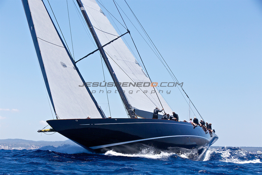 The SuperYacht Cup 2013, first race J Class