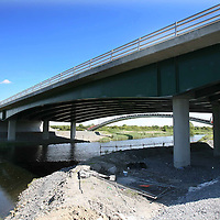 "The bridge on the N85 link road of the Ennis Bypass which is undergoing urgent remedial works after an abutment was found to be moving at a rate ""greater than envisaged"" by the construction company.<br /> <br /> Photograph  by Eamon Ward<br /> <br /> <br /> <br /> (Pat Flynn is sending in Story)"